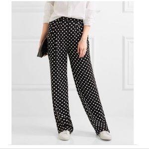 Michael Kors Polka Dot Wide Leg Pant   Black&White